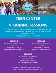 The MiltonYouth Task force wants to hear from YOU this weekend!We've had some great feedback from teens, now it's your turn-- please join us for an hour at 2pm on Saturday, June 1st at Milton Town Hall.