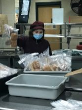 Mercedes Gonzalvez packed to go bags this week.