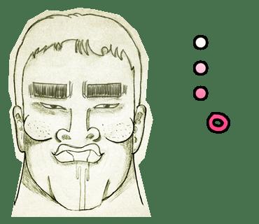 LINEスタンプ_ミリススタイルの変顔スタンプシリーズ