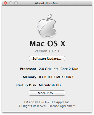 MacBook Pro Late 2008 with 8 GB RAM