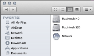 Picture of two volumes now available on my Macbook Pro