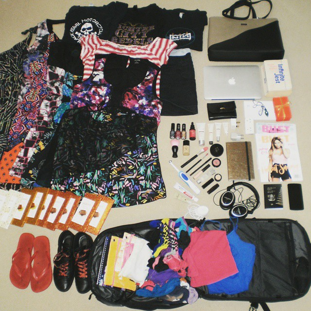 Packing her Minaal Carry-on backpack for Heather's 7 week slingshot tour