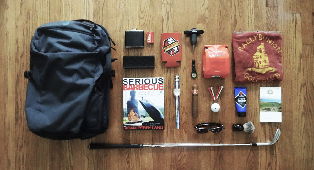 Minaal Carry-on Backpack and Golf Gear
