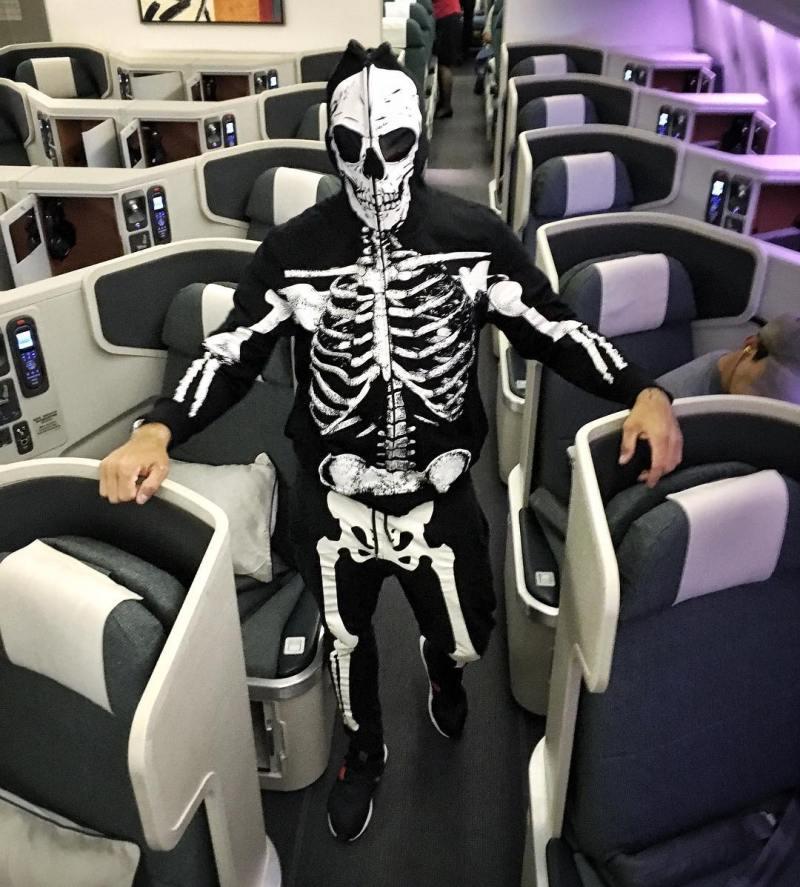 How to sleep on a plane Casey Neistat pajamas