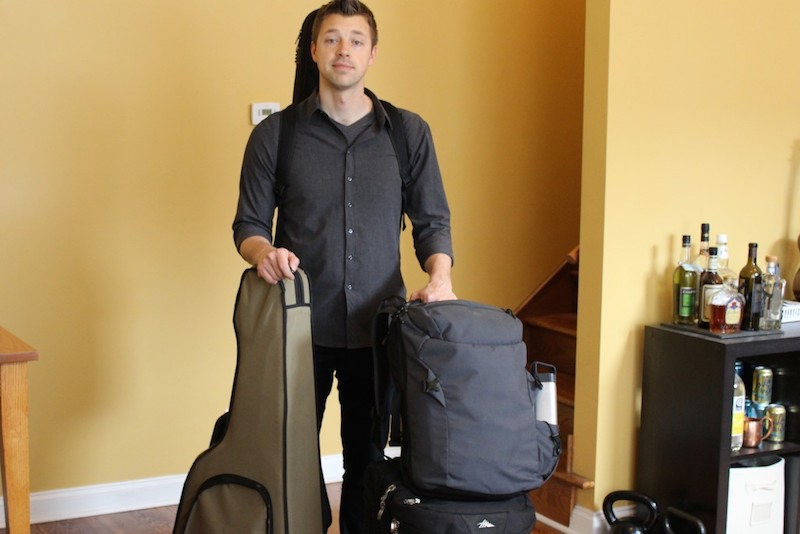 Digital Nomad Josh Skaja packed up for his next tour