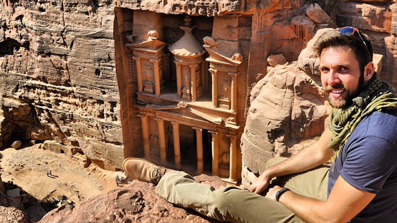 How fast do digital nomads travel - Clint Johnston at Petra