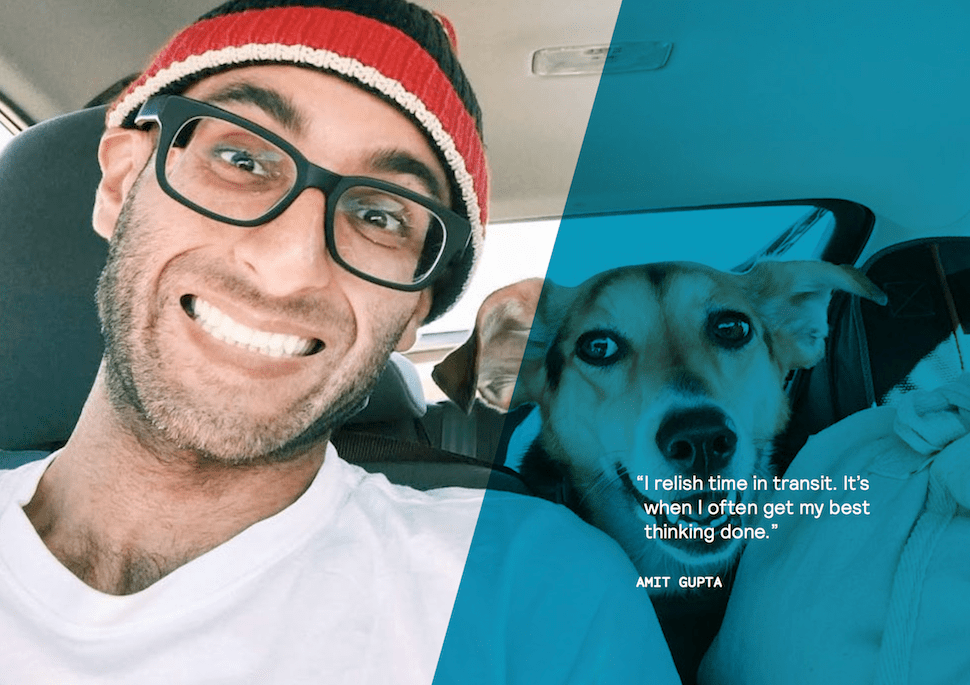 Digital Nomad Amit Gupta rolling with his best friend