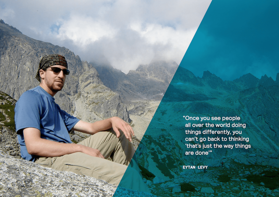 Digital Nomad Eytan Levy the Snarky Mountains in the mountains
