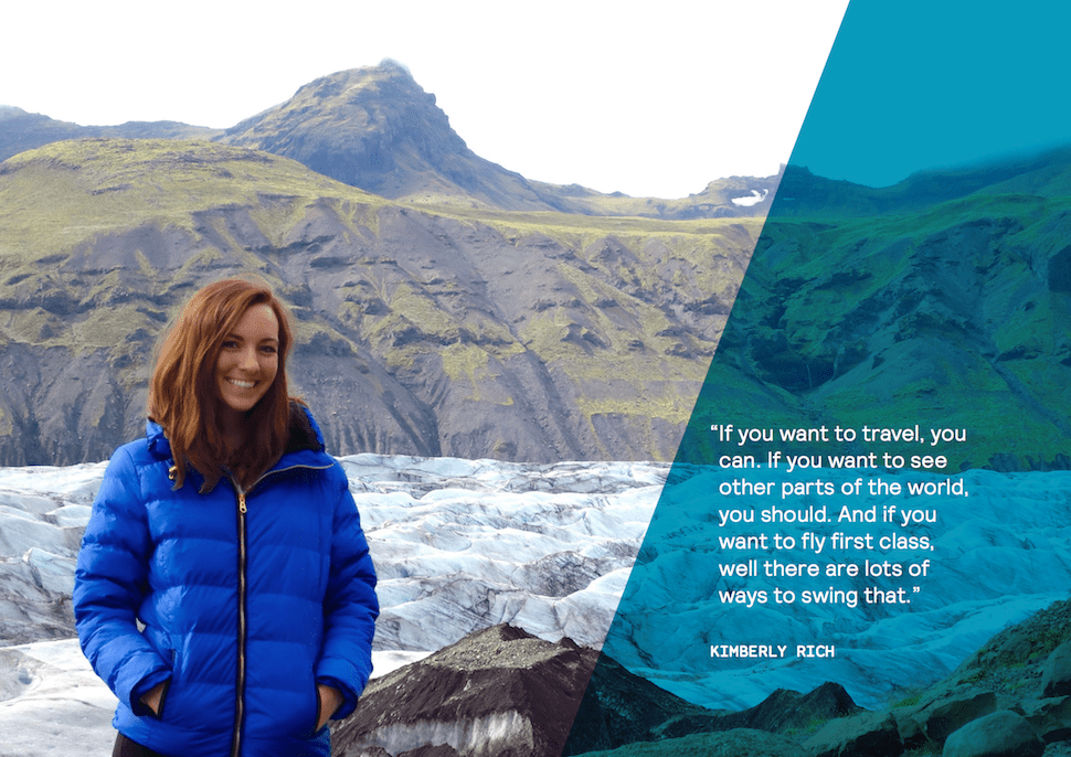 Digital Nomad Kimberly Rich of the Bold Life Movement in Iceland