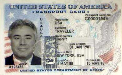Passport Card Example