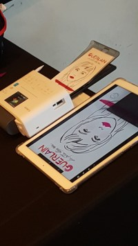 Drawing Booth Tools of The Trade - Portable Printer and iPad Pro