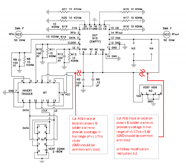 DAT-31R5A/31A/15R5A Series Evaluation Boards Operation to VDD=5.2V