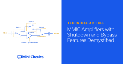 MMIC Amplifiers with Shutdown and Bypass Features De-Mystified