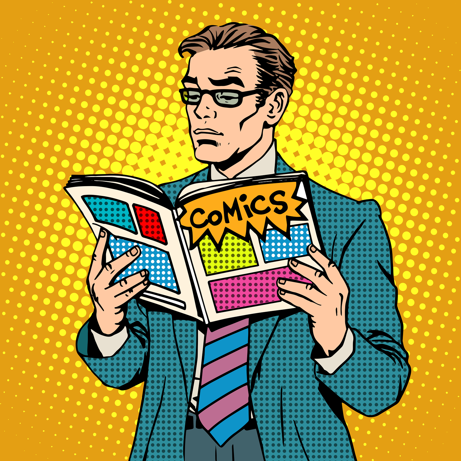 man reading comic on how to store comic books