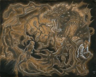 Monsters, Pencil, Char Coal,
