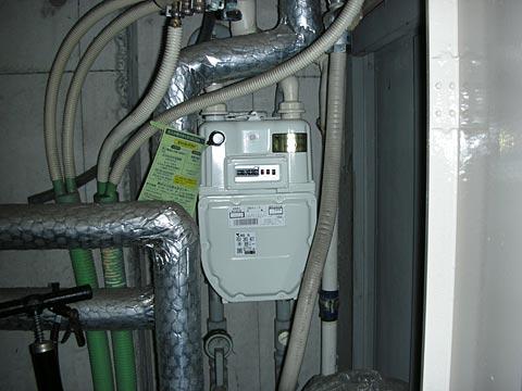 PS内に設置してあるガスメーター