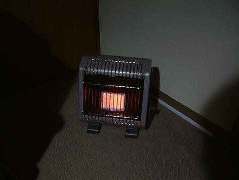 部屋の暖房に使ってみた