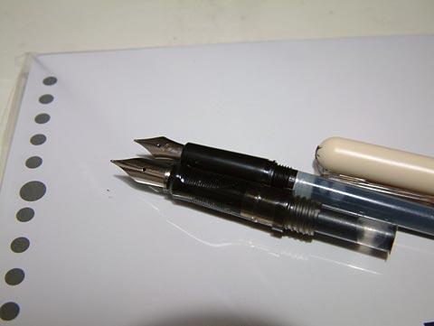 ペン先の比較。