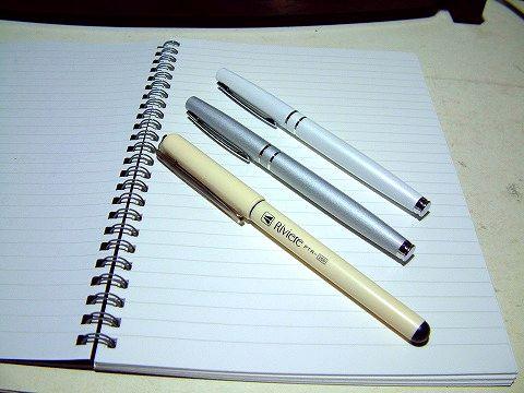 ダイソーで買った愛しき万年筆たち。合計3本でございますw