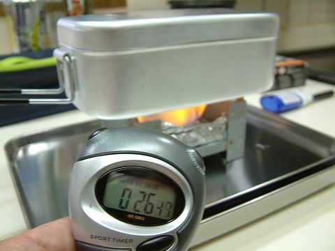 火を付け…放ったらかし炊飯のスタートです!
