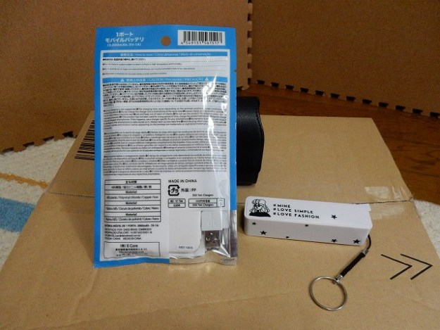 袋の裏面はこんな感じ。商品名は「500円充電器」らしいですw