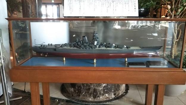 戦艦大和の模型が展示されていました。