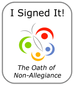 I signed the oath of non-allegiance
