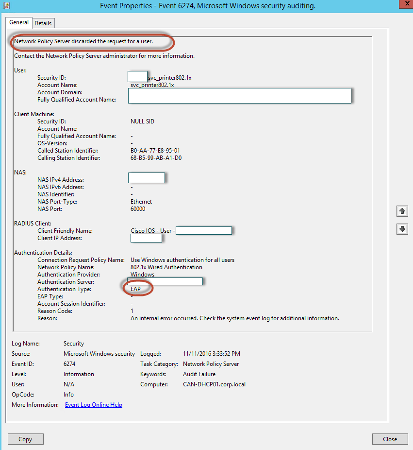 Updating HP Firmware over SMB & 802.1x woes - Kroell's KB
