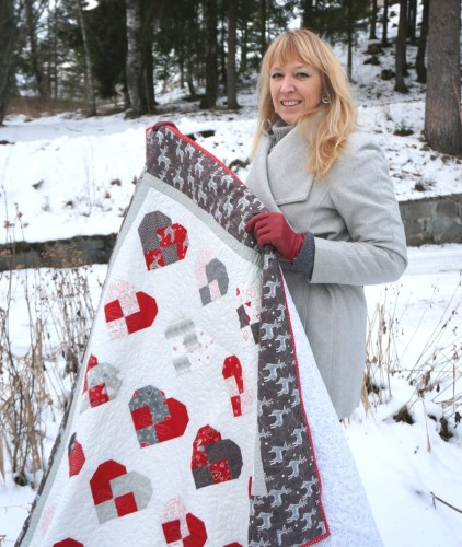 wenche and her sweetheart quilt