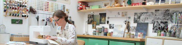 Janet in studio photo by Sarah Hegginton