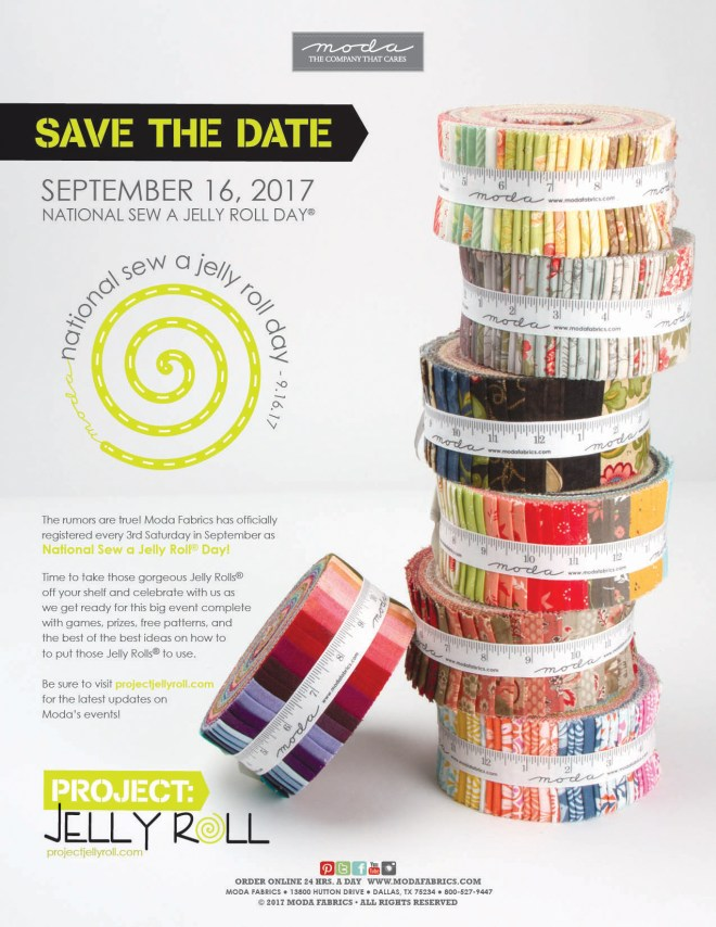 Sew a Jelly Roll Day by Moda