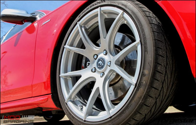 Forgestar CF5V Audi B8 S4 Silver 19x9ET39 Red On Track (1)