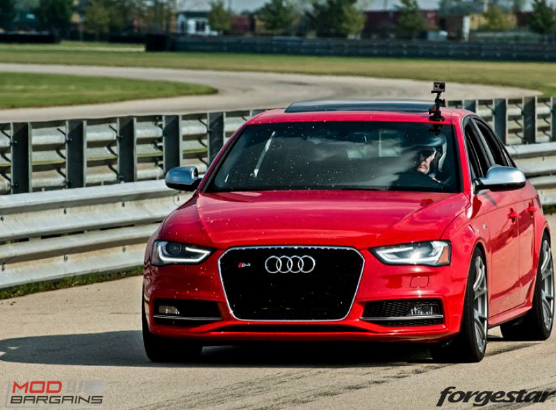 Forgestar CF5V Audi B8 S4 Silver 19x9ET39 Red On Track (10)