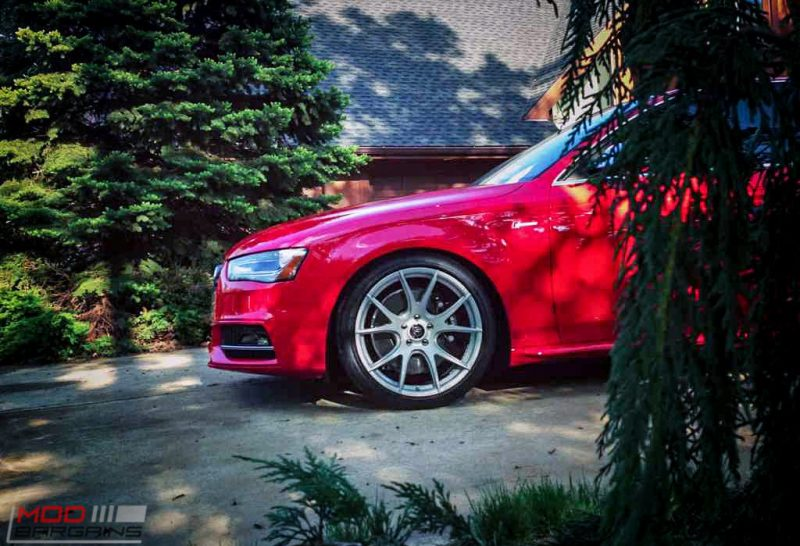 Forgestar CF5V Audi B8 S4 Silver 19x9ET39 Red On Track (12)