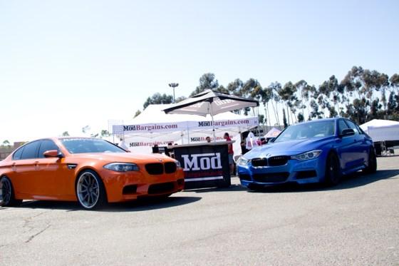 ModBargains Booth @ SoCal Euro - BMW F10 M5 (Left) / BMW F30 328i (Right)