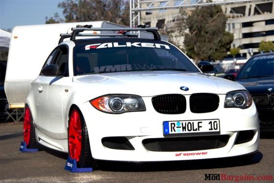 Red VMR Wheels White BMW E82 135i
