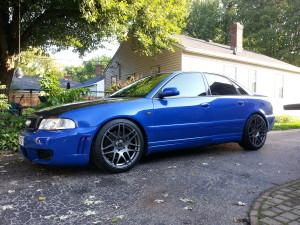 Blue Audi B5 S4 Forgestar F14 B5S4