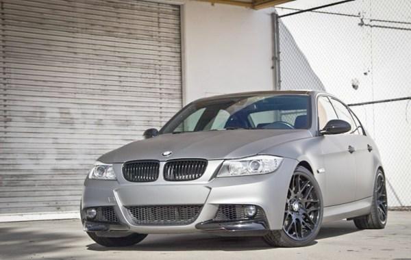 Quick Snap: Matte Gunmetal BMW 335d [E90] Photoshoot