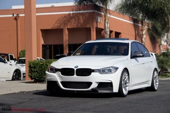White BMW M-Sport F30 335i Front