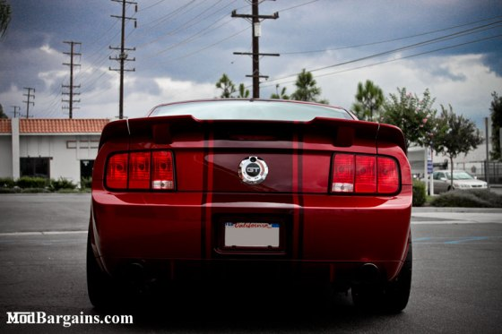 Red Mustang GT Back Lights Bumper