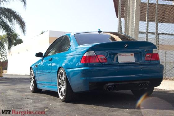 Laguna Seca Blue BMW E46 M3 Rear Bumper