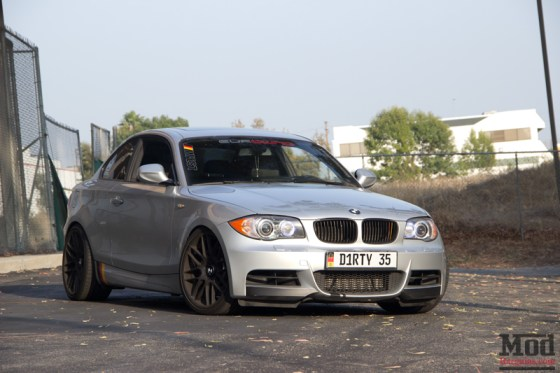 Silver BMW 135i Black Wheels