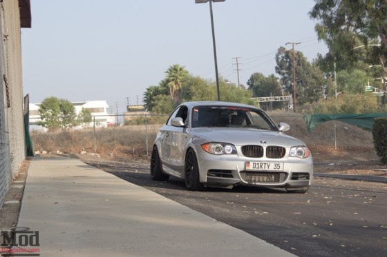 Silver BMW 135i Front