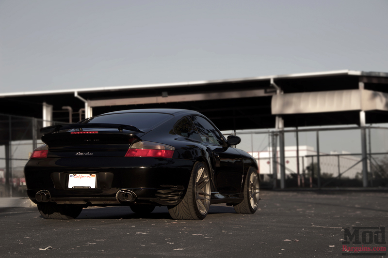 Black 2004 Porsche 996 Turbo Rear