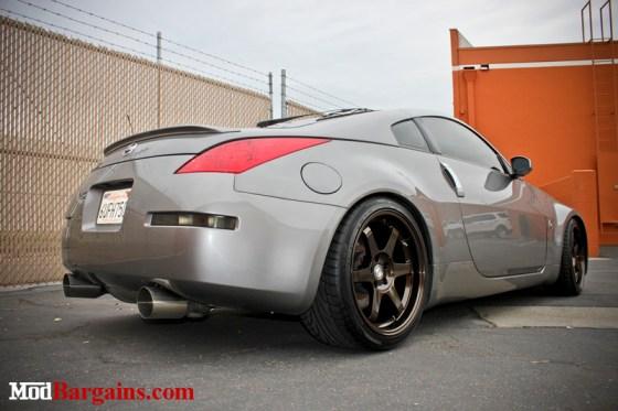 Gray Nissan 350Z Bronze Sportline Wheels Rear Exhaust Lights