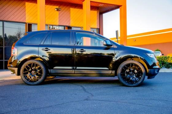 Black Ford Edge Avant Garde M310 Matte Black Wheels Sideview
