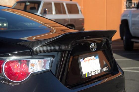 Black Scion FR-S with Carbon Fiber Duck Bill Style Trunk Spoiler