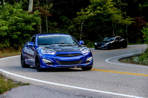 Blue Hyundai Genesis Coupe Modification Front