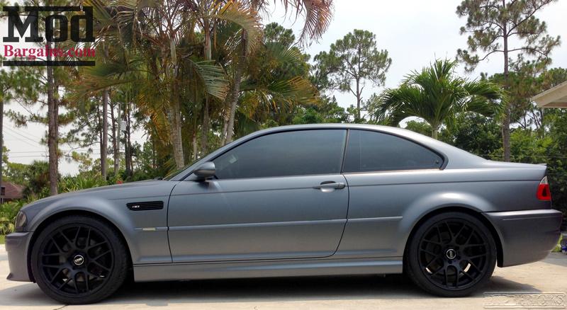Quick Snap: BMW E46 M3 on Matte Black VMR V710 Wheels Hyundai Genesis Coupe 2014 Blue