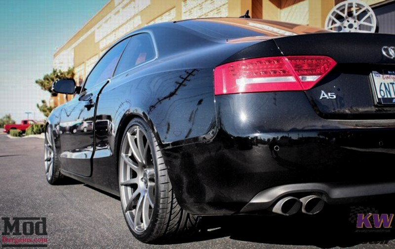 Audi B8 A5 Forgestar CF10 Gunmetal on KW V1 Coilovers w RS Grille (2)